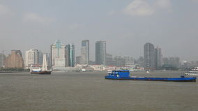 Cargo ships at Huangpu River Royalty Free Stock Photos
