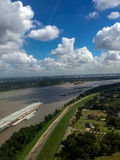 Cargo ships on the mississippi river Stock Photos