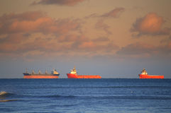 Cargo ships raid Royalty Free Stock Photos