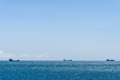 Cargo ships sailing Royalty Free Stock Image