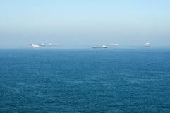 Cargo ships at sea. Stock Images