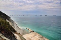 Cargo ships at sea Royalty Free Stock Image