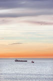 Cargo ships in sea Royalty Free Stock Photography