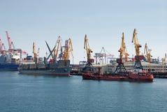Cargo ships at shipyard Royalty Free Stock Image