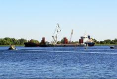 Cargo ships. Royalty Free Stock Photos
