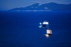 Cargo ships royalty free stock photos
