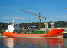 Cargo in shipyard! Stock Photo