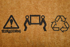 Cargo signs Royalty Free Stock Photo