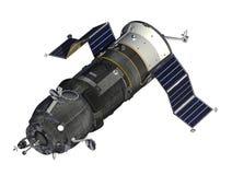 Cargo Spacecraft Deploys Solar Panels Stock Image