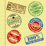 Cargo stamps. Cargo and shipping themed rubber stamps Royalty Free Stock Image