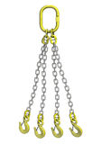Cargo strapping: metal chain with crane hook Royalty Free Stock Photo