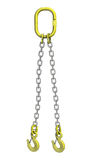 Cargo strapping: metal chain with crane hook Stock Photos