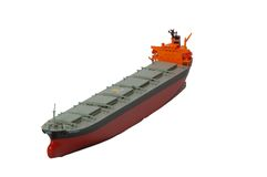 Cargo Tanker Ship. 7 bay Tanker Stock Photography