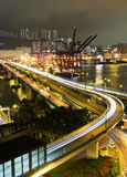 Cargo terminal and highway Stock Image
