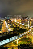 Cargo Terminal and highway Stock Photography