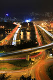 Cargo Terminal and highways. Of Hong Kong China Royalty Free Stock Photo