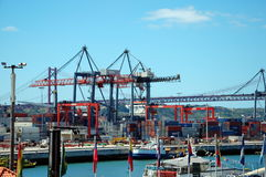 Cargo terminal in Lisbon, Portugal Stock Images