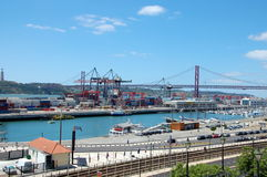 Cargo terminal in Lisbon, Portugal Royalty Free Stock Image