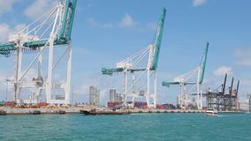 Cargo terminal stock video