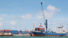 Cargo terminal stock footage
