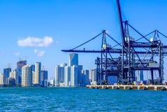 Cargo Terminal of the Miami Seaport, Florida Royalty Free Stock Image