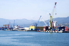 Cargo terminal in the Port of Genoa Royalty Free Stock Photo