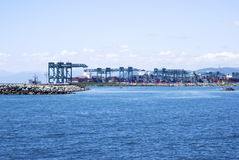 Cargo terminal in the Port of Genoa Royalty Free Stock Photography