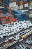 Cargo terminal in the Port of Salerno, Italy Royalty Free Stock Photography