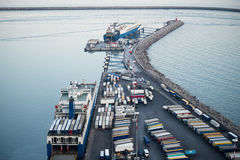 Cargo terminal in the Port of Salerno, Italy Royalty Free Stock Images