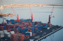Cargo terminal in the Port of Salerno, Italy Stock Image