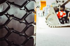 Truck tires new Stock Photos