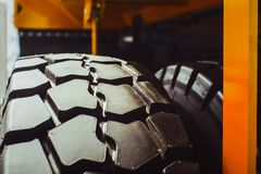 Truck tires new Stock Image