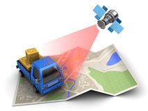 Cargo tracking Royalty Free Stock Image