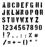 Cargo Or Traffic Stencil Alphabet Royalty Free Stock Photo