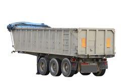 Cargo trailer isolated on white background Royalty Free Stock Photo