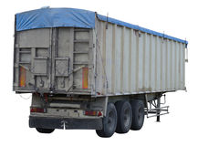 Cargo trailer isolated on white background Stock Photography