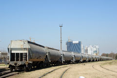 Cargo train Royalty Free Stock Images