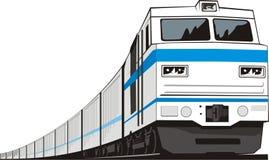 Cargo train. Railway locomotive for cargo transportation Stock Image