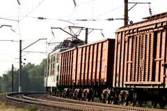 Cargo train. Loaded with coal stock images
