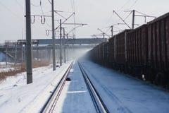 Cargo train Royalty Free Stock Photography