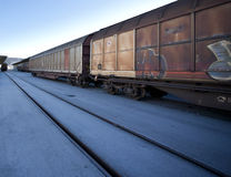 Cargo train Stock Photos
