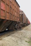 Cargo train. Shot with diminishing perspective Stock Photos