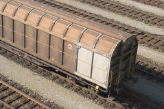 Cargo Train Car Royalty Free Stock Images