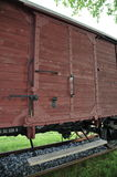 Cargo Train Car in Westerbork Transit Camp. Door of a Freight Car in the former World War 2 Transit Camp Westerbork (Netherlands). Similar Cars were used to Stock Image