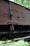 Cargo Train Car in Westerbork Transit Camp Stock Photos