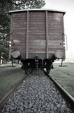 Cargo Train Car in Westerbork Transit Camp. Freight Car in the former World War 2 Transit Camp Westerbork (Netherlands). Similar Cars were used to deport 102.000 Stock Images