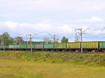 Cargo train from cars. Royalty Free Stock Photos