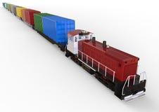 Cargo Train concept royalty free illustration