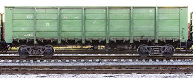 Cargo train container. Old cargo train container. Close up. Big size Stock Photo