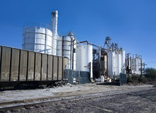 Cargo train at industrial plant Royalty Free Stock Photography